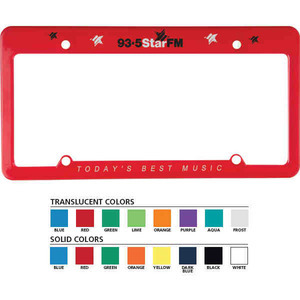 License Plate Holders, Custom Imprinted With Your Logo!
