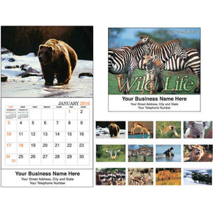 Custom Printed Life in the Wild Executive Calendars