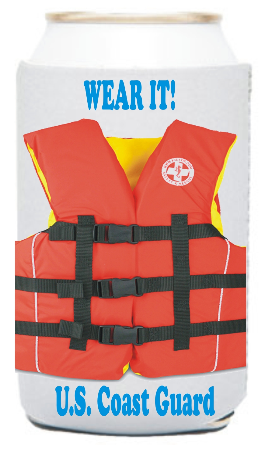 Life Jacket Vest Can Coolers, Custom Imprinted With Your Logo!