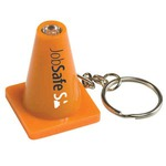 Custom Imprinted Light Up Safety Cone Keychains