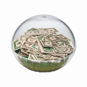 Custom Printed Lighted Money Crystal Globes