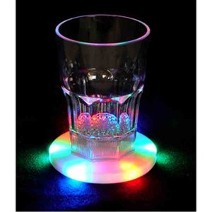 Lighted scrolling message beverage coasters custom imprinted with your logo - Lighted coaster ...