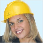 Custom Imprinted Lightweight Polyethylene Slotted Shell Hard Hats