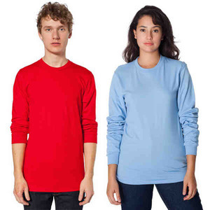 American Apparel Long Sleeve T-Shirts For Men, Custom Imprinted With Your Logo!