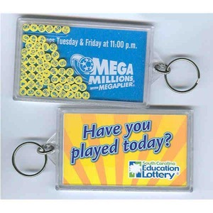 Custom Printed Lottery Number Selector Keyrings