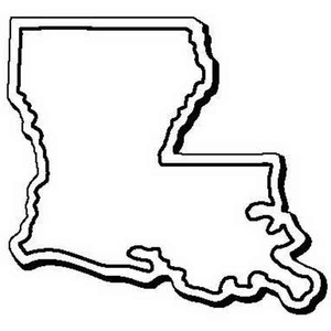 Custom Printed Louisiana Shaped Magnets