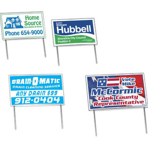 Custom Printed Low Cost Budget Yard Signs