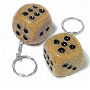 Custom Printed Lucky Dice Key Chains