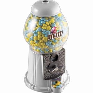 Custom Printed M&M Chocolate Candy Gumball Dispensers