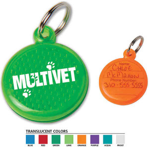 Custom Printed Made in the USA Paw Reflector ID Tags