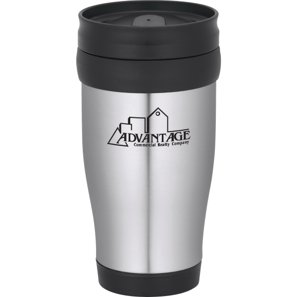 1 Day Service 14oz. Double Wall Stainless Steel Travel Tumblers, Customized With Your Logo!