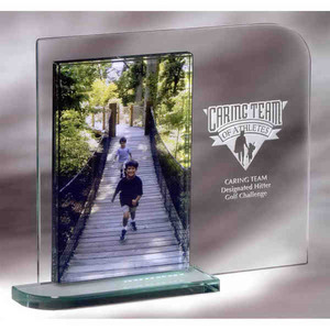 Custom Printed Mainliner Photo Frame Crystal Gifts
