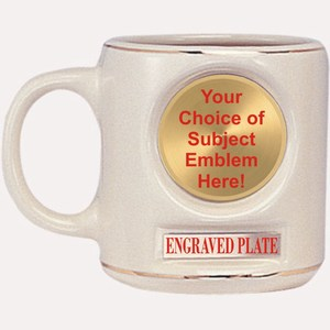 Custom Engraved Emblem Mugs