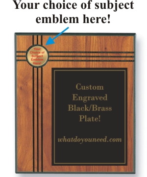 Emblem Plaques, Custom Engraved With Your Logo!