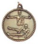 Custom Printed Male Gymnastics High Relief Medals