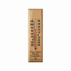 Custom Printed Maple Wood Thermometers