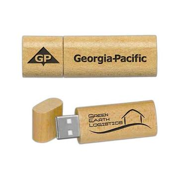 Custom Printed Maplewood Material USB Drives
