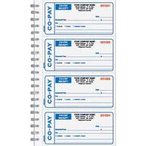Custom Printed Medical Co Pay Receipt Books