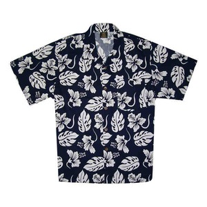 Custom Printed Mens Blue Hawaii Hawaiian Camp Shirts