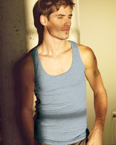 Mens Canvas Sleeveless Tank Tops, Imprinted With Your Logo!