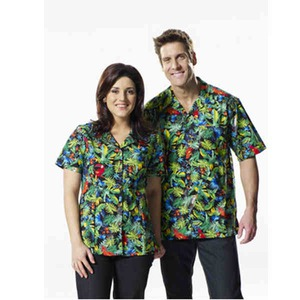 Custom Printed Mens Jungle Jewels Hawaiian Camp Shirts