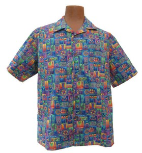 Custom Printed Mens Ocean Island Hawaiian Camp Shirts