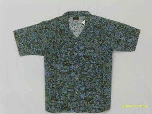 Custom Printed Mens Sea Life Hawaiian Camp Shirts