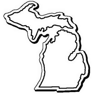 Custom Printed Michigan Shaped Magnets