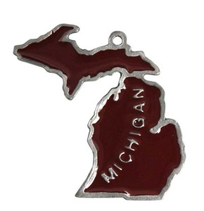 Custom Printed Michigan State Shaped Ornaments