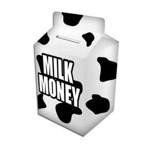 Custom Printed Milk Carton Banks