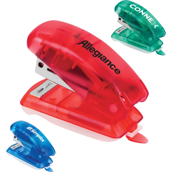 Custom Printed 1 Day Service Mini Staplers with Matching Color Staples