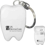 Personalized Mini Tooth Dental Floss Keychains