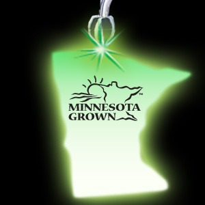 Custom Printed Minnesota State Shaped Lighted Necklaces