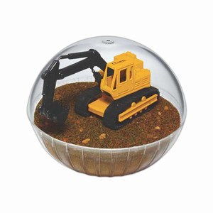 Custom Printed Mobile Back Hoe Crystal Globes