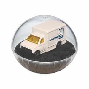 Custom Printed Mobile Delivery Truck Crystal Globes