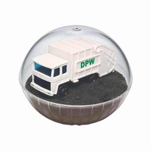 Custom Printed Mobile Garbage Truck Crystal Globes