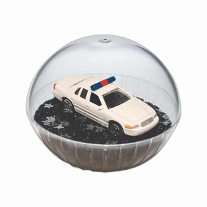 Custom Printed Mobile Police Car Crystal Globes