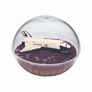 Custom Printed Mobile Space Shuttle Crystal Globes