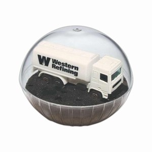 Custom Printed Mobile Tanker Crystal Globes