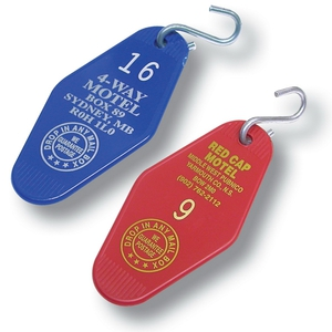 Motel and Hotel Key Tags, Personalized With Your Logo!