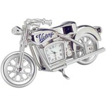 Custom Imprinted Motorcycle Desk Clocks
