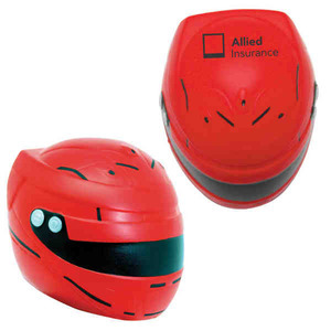 Custom Printed Motorcycle Helmet Stress Relievers