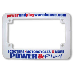 Custom Printed Motorcycle License Plate Frames