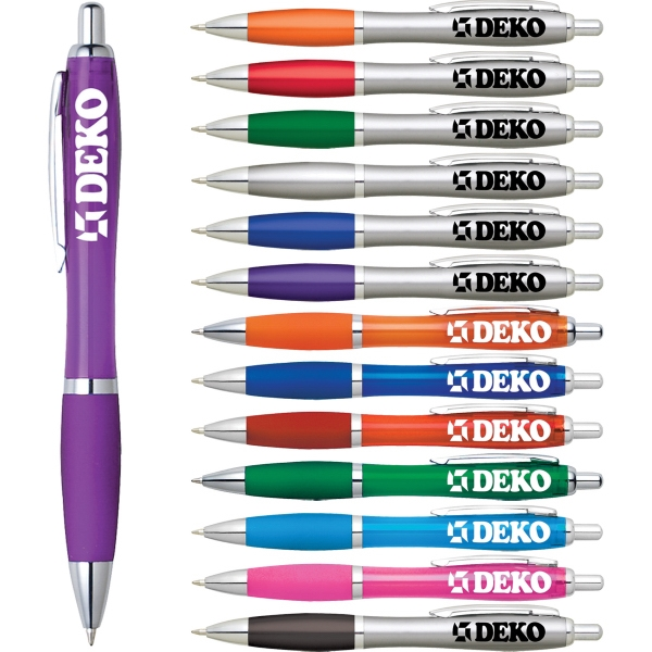 1 Day Service Silver Click Pens, Customized With Your Logo!