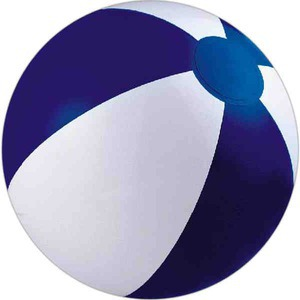 Custom Printed Navy Blue and White Alternating Color Beach Balls