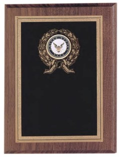 Custom Imprinted Navy Plaques