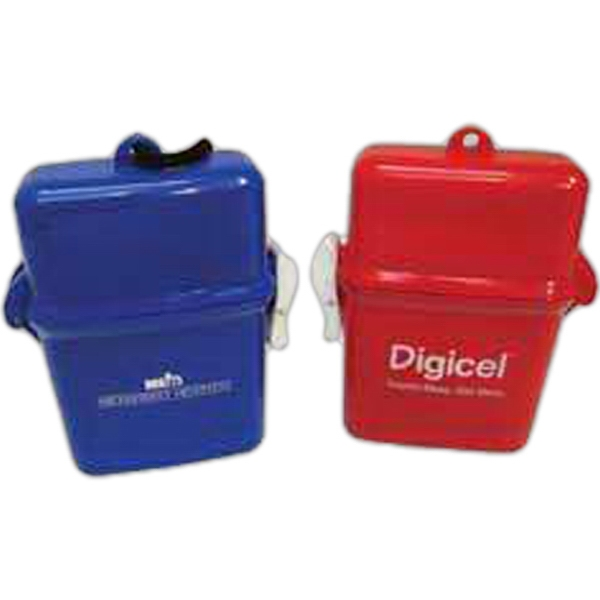 Custom Printed 3 Day Service Apple Shaped Waterproof Containers with Ponchos