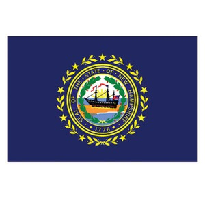 Custom Printed New Hampshire State Flags