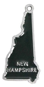 Custom Printed New Hampshire State Shaped Ornaments