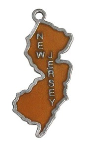 Custom Printed New Jersey State Shaped Ornaments